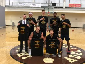 Students with their Intramural Champions shirts